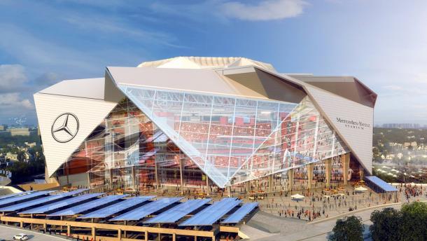 Simulación de como quedará el Mercedes-Benz Stadium. Fuente: Atlanta Falcons