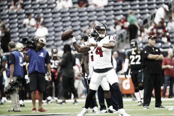 DeShaun Watson se estenó ante los Jaguars | Foto: Houston Texans