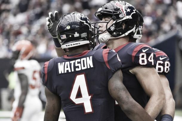 Watson ha dado un nivel más al ataque de los Texans | Foto: Houston Texans