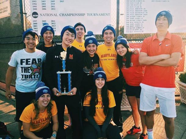 The Terrapins pose with their trophy as USTA Mid-Atlantic Sectional Champions