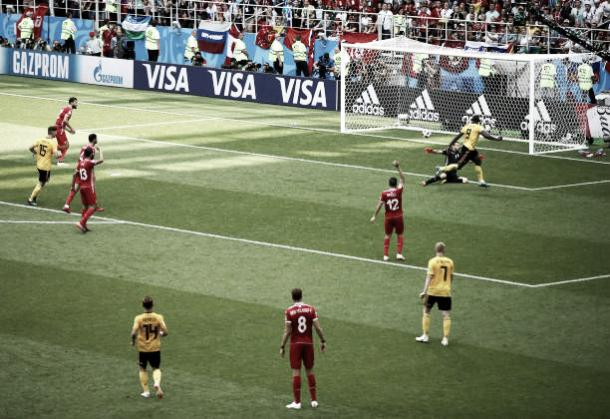 Lukaku faz o segundo dele e o terceiro da Bélgica (Fonte:Getty Images)