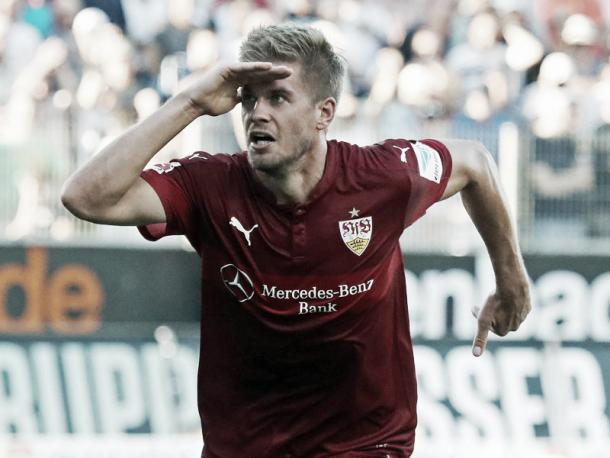Terodde's first half goal set the tone for the remainder of the game, as Stuttgart largely dominated. (Photo: kicker.de)