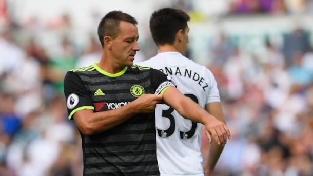 Terry en el encuentro ante el Swansea. Foto: Chelsea