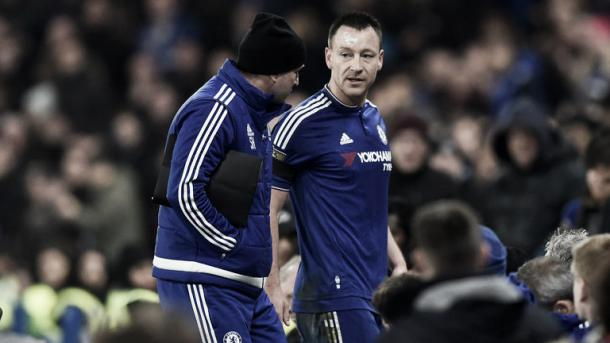 Terry leaving the pitch injured against Newcastle. Source - skysports.com