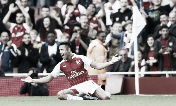 Sanchez scored two stunning goals to shock United. Photo: the Guardian