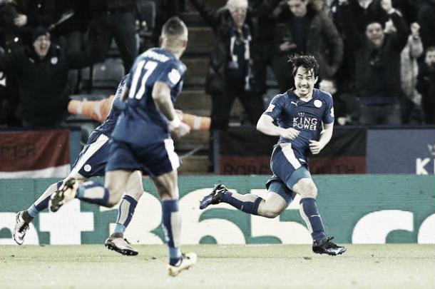 Shinji Okazaki scored a stunning bicycle kick to secure the points on Monday night | Photo: Mirror
