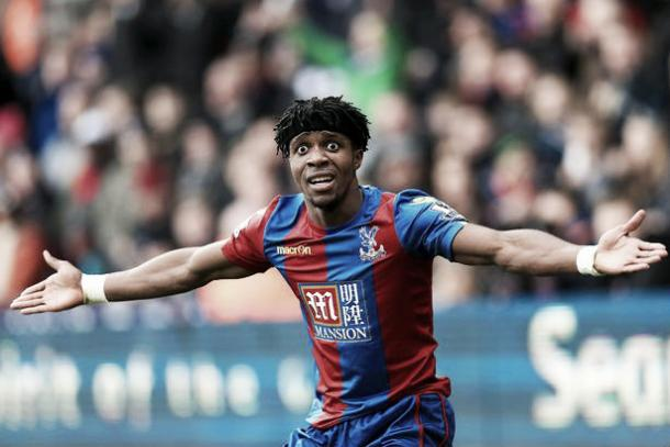 Zaha has scored twice for the Eagles this season. Photo: The Mirror