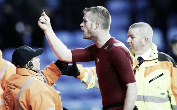 Brunt initially went over to give his shirt to someone in the crowd. Photo: the Telegraph