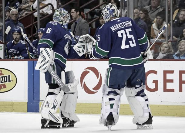 Demko y Markström | Foto: The Canuck Way