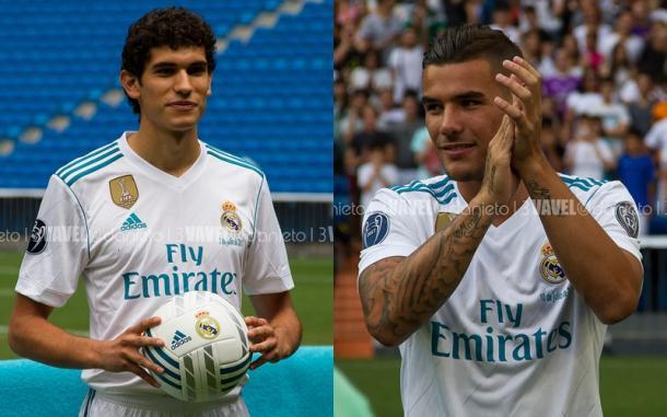 Vallejo (esquerda) já pertencia ao Real Madrid, Theo (direita) foi comprado do rival Atlético de Madrid