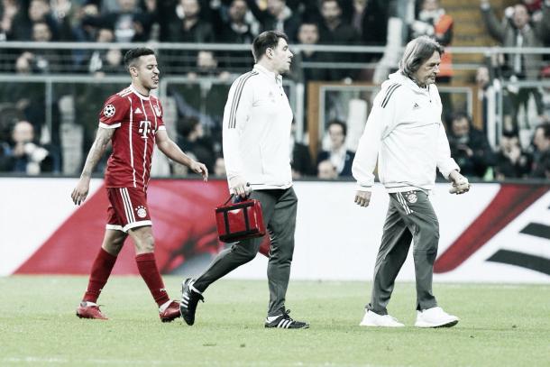 extrañado en los últimos 10 min.: Thiago | fuente: @FCBayern
