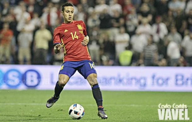 Thiago jugando con la Selección | Foto: Carla Cortés (VAVEL.com)