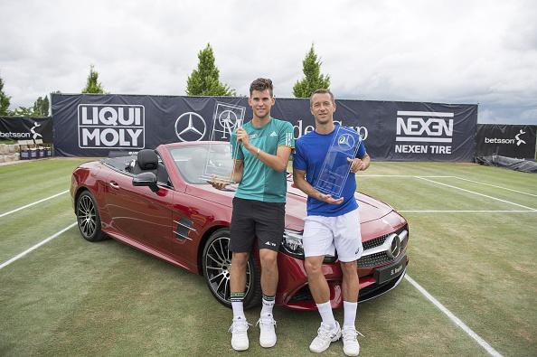 Thiem and Kohlschreiber met in the delayed Stuttgart final on Monday (Photo: Getty Images/Deniz Calagan)