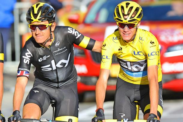 Froome and Thomas at the Tour de France / Road Cycling