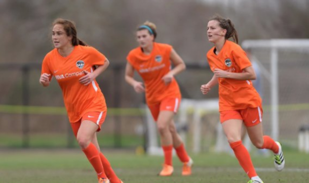 The Houston Dash got an opening 2-1 win at the Thorns Spring Invitational. | Photo: Wilf Thoms via @houstondash