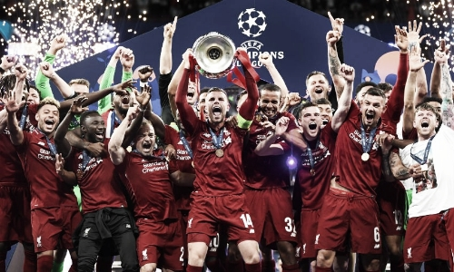 Tras ganar la Champions   Foto vía liverpool.com