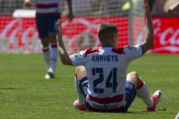 Kravets en el partido de la temporada pasada contra el Valencia   Foto: Antonio L Juárez