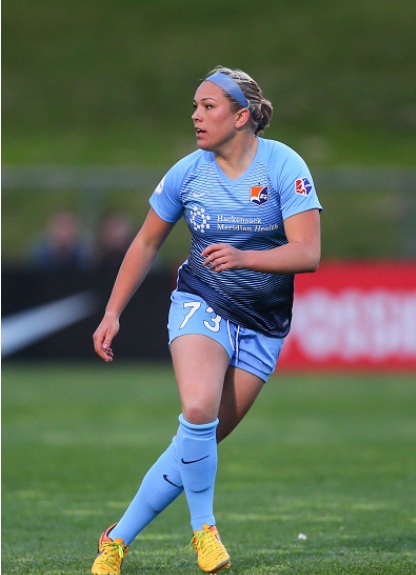 Tiernan joined Sky Blue FC after her four-year career with Rutgers. | Photo: Rich Graessle - Icon Sportswire via Getty Images