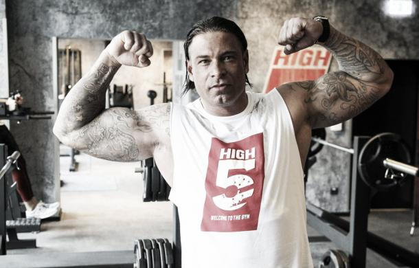 Wiese clearly has the physique of a WWE Superstar (image: spox.com)