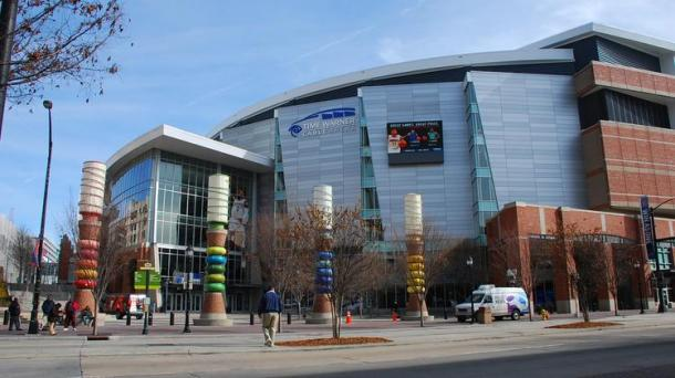 Time Warner Cable Arena, the home of the Charlotte Hornets and possibly the host of the 2017 NBA All-Star Weekend. Photo: Jen Wilson