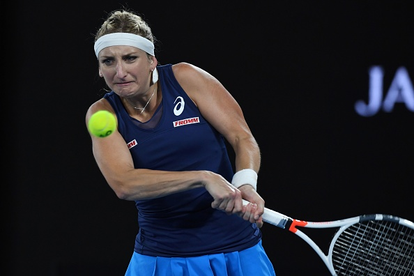 Bacsinszky played a good match against Gavrilova (Photo by Saeed Khan / Getty Images)