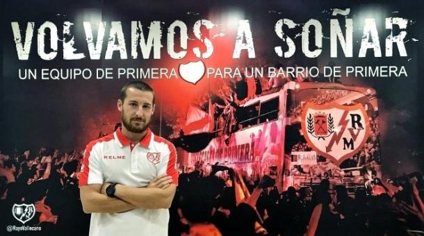 """Nas redes sociais, o clube celebrou o retorno do atleta: """"Bem-vindo de volta a casa!"""" (Divulgação/Rayo Vallecano)"""