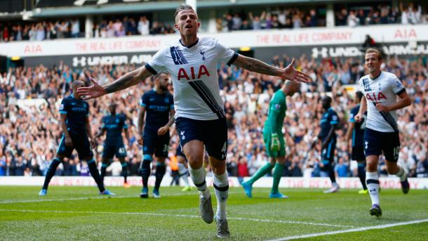 Alderweireld scored in a 4-1 win against City (photo: Getty Images)