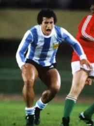 En acción durante el Mundial 1978