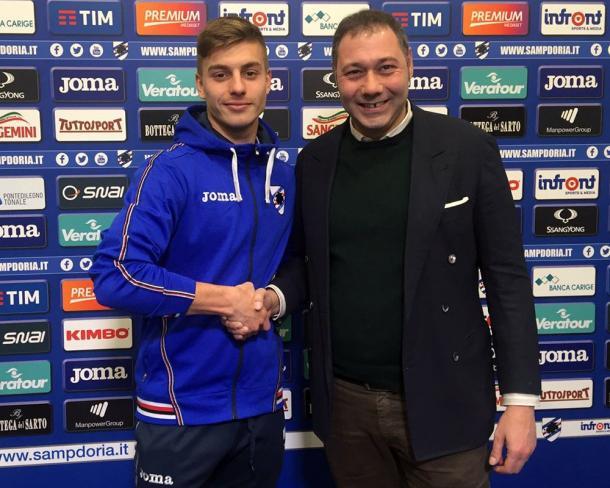 Tomic è ufficiale, www.twitter.com (@sampdoria)