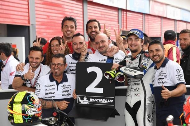 Karel Abraham celebrando su mejor clasificación de la temporada /FOTO: teamaspar.com