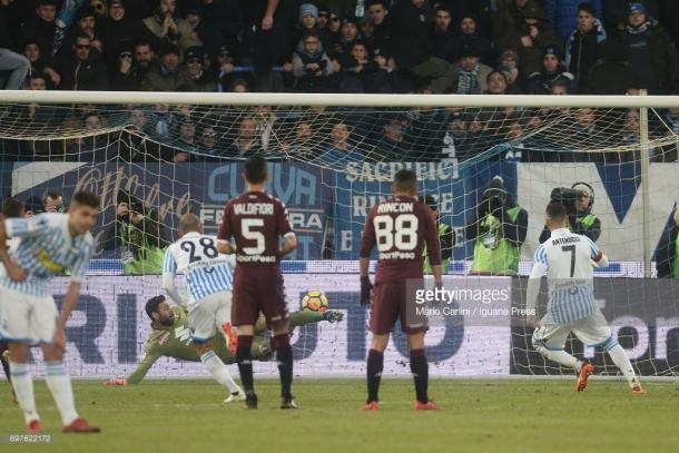 Imagen del ultimo partido del 2017 en el que el Torino cedida los tres puntos tras ir ganando 0-2 a la SPAL / Foto: gettyimages
