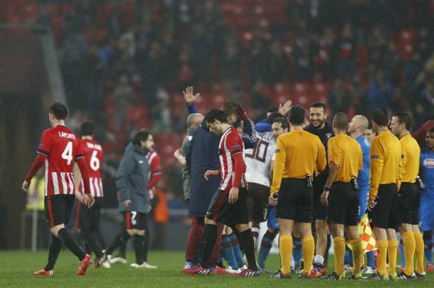 Los jugadores del Athletic acabaron eliminados ante el Torino | Fotografía: Athletic Club