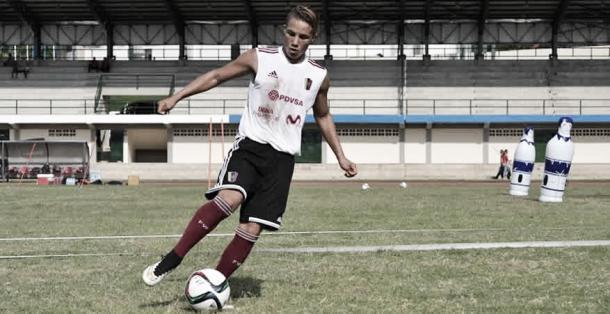 Edson Tortolero Jr. en procesos juveniles de la Selección Venezolana de Fútbol. FOTO: lavinotinto.com