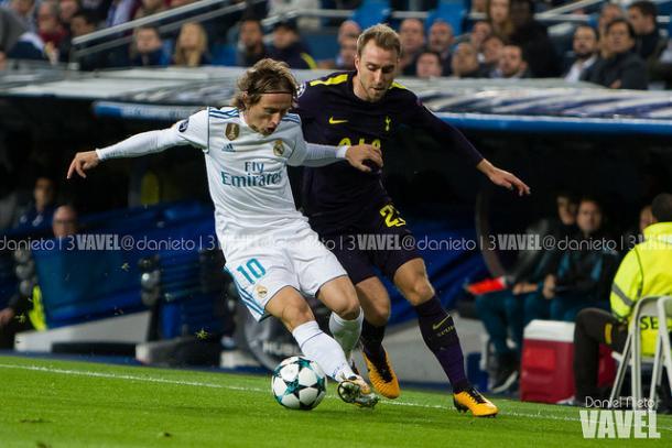 El Real Madrid - Tottenham acabó con un 1-1 en el marcador   Foto: Dani Nieto (VAVEL).