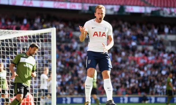 L'esultanza di Kane dopo il gol dell'1-0 | Calciomercato.com