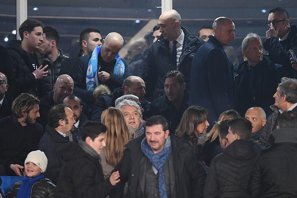 Totti foi encontrado nas dependências no estádio San Paoli