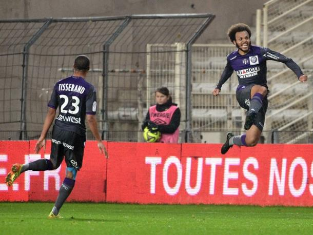 Braithwaite's goals are keeping Toulouse's hopes of staying up alive. (Photo: Sports Mole)
