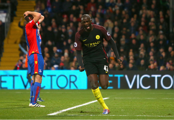 Yaya Touré vs Crystal Palace. Foto: Zimbio.