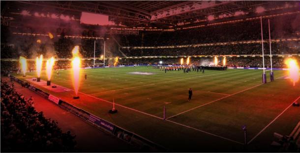 Foto: lleno total. Así suele lucir el Estadio Principality durante los partidos de Gales, ya sea en el Torneo de las Seis Naciones o por la ventana internacional de noviembre. Crédito: Millennium Stadium.