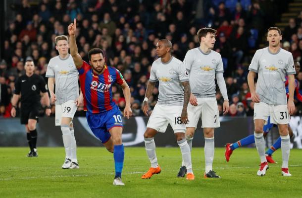 Townsend festeggia il goal del vantaggio / Crystal Palace Twitter