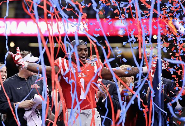 Treadwell celebra a conquista Allstate Sugar Bowl diante de Oklahoma State (Foto: Getty Images)