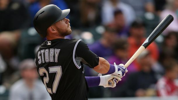 Story leads all MLB rookies with 16 home runs and is second in National League shortstop All-Star voting | USA TODAY Sports