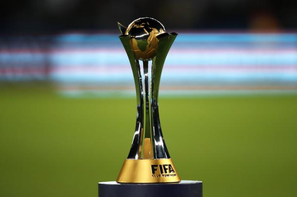 El preciado trofeo del Mundial de Clubes. Foto: Televisa.