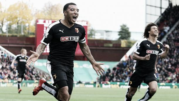 Troy Deeney's goal against Stoke on 19 March is Watford's only goal in their last five league matches. | Photo: Getty Images
