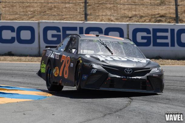 Martin Truex Jr on his way to winning the opening stage at Sonoma | Picture Credit: Brandon Farris