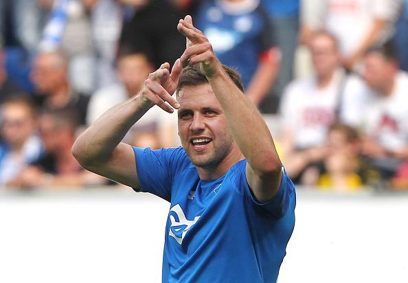 Szalai comemora o segundo gol (AMELIE QUERFURTH/AFP/Getty Images)