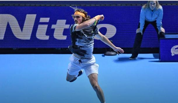 Tsitsipas played at an extremely high level to oust Federer/Photo; Peter Staples