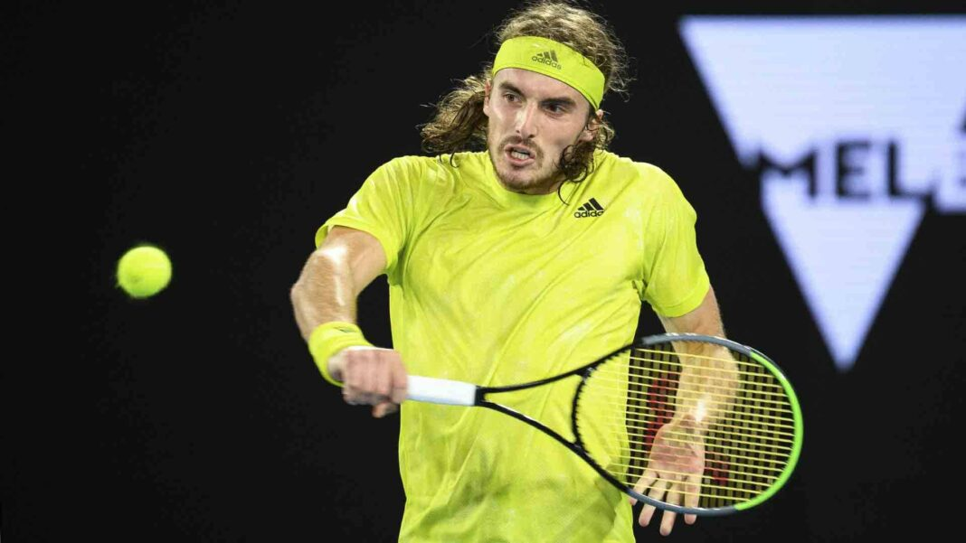 Tsitsipas will need to protect his backhand from the aggressive game of Berrettini/Photo: Peter Staples/ATP Tour