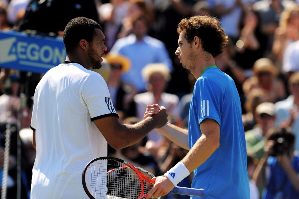 Tsonga and Murray after their final clash in 2011 (Photo: Getty Images/Michael Regan)