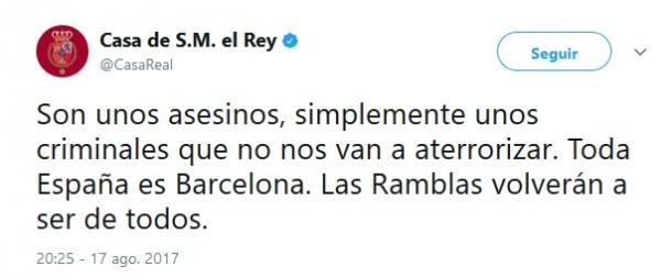 Image result for comunicado casa real atentados ramblas